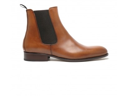 Chelsea boot en veau whisky