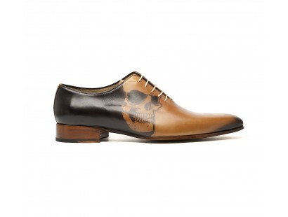 Skull tattoo light leather oxford