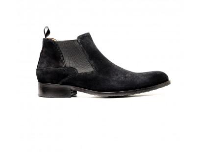 boots à élastique en veau velours noir