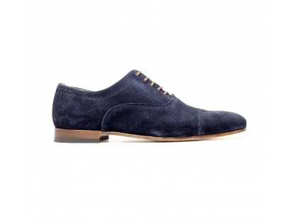 Marine suede oxford straight toe