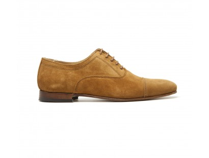 Tabac suede straight cap toe oxford