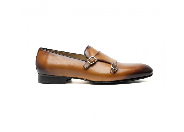camel monk loafer