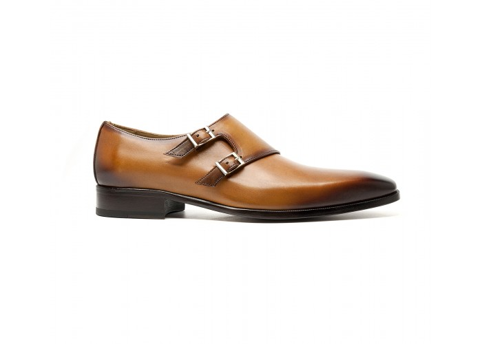 double monk in whisky calf