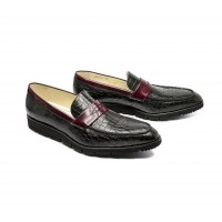 Patent crocodile style leather Loafers