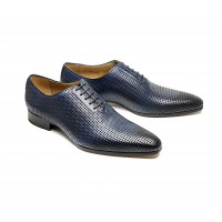 """Perforated """"blue"""" calf oxford"""