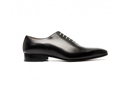 Black calf one cut oxfords
