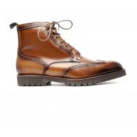 winter boots en patinaed calf