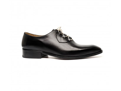 "Black calf ""ghillie ""oxford"