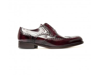 burgundy full brogue derby