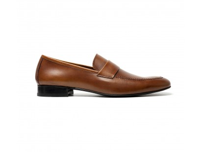 ultra soft loafer in brown calf leather