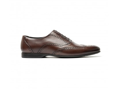 full brogue oxford in niger calf leather - rubber sole