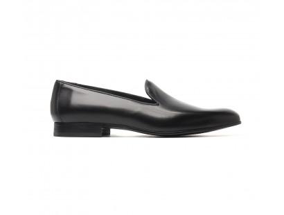 Black calf slip-on