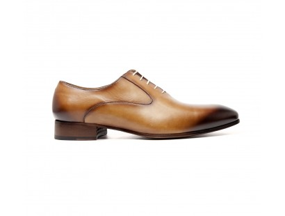camel calf plain oxford