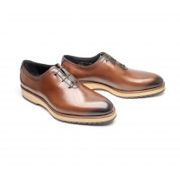 "One cut oxfords in whisky calf "" BIG SOLES"""