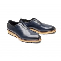 """One cut oxfords in whisky calf """" BIG SOLES"""""""