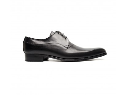 Plain derby in black box calf