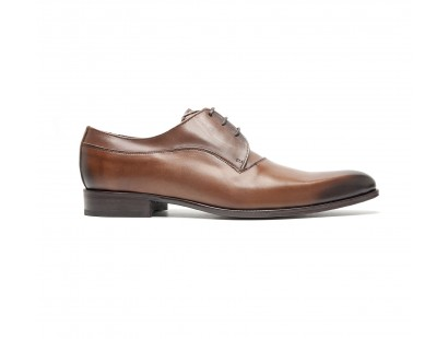 Plain derby in black brown calf