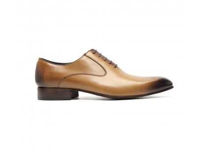 cognac calf oxfords