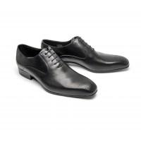 black calf oxfords