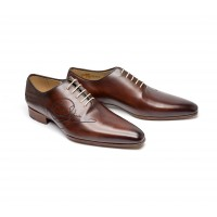 """One cut """"signature """" in brown patined leather"""