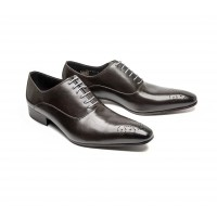 dark brown calf leather oxford