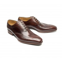 brown calf leather full brogue