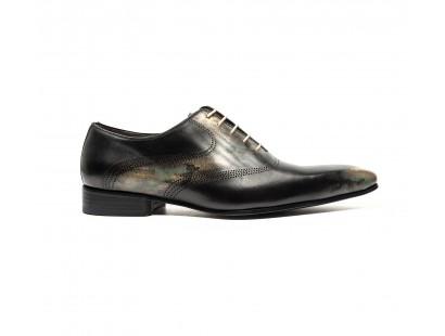 Camo patina calf oxford