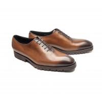 brown calf oxford with rubber commando sole